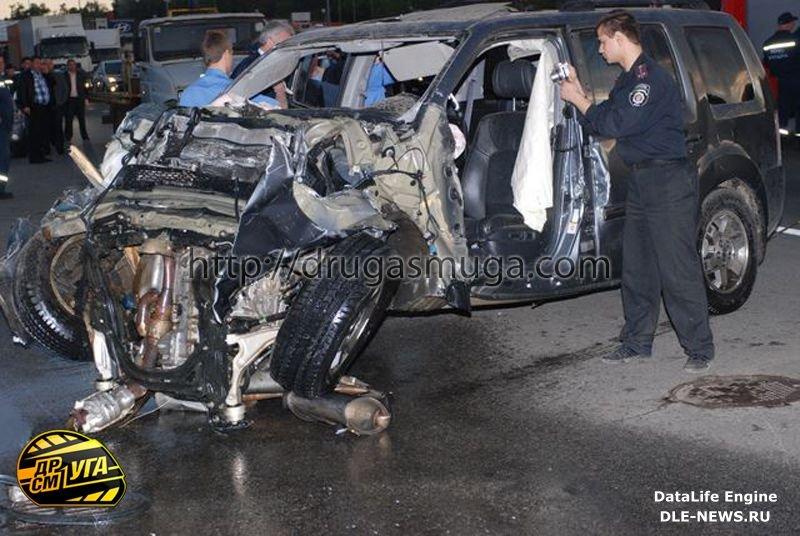 на Столичном шоссе Honda Pilot залетел в подземный